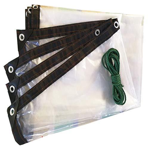 LXLA Bâche en plastique transparente avec oeillets, bâche anti-pluie transparente, toile pour store légère et imperméable - 120g / m² (Size : 1m x 1m)