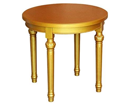 Teetisch / Beistelltisch rund aus Holz, rot-gold, im Barockstil