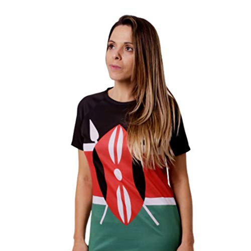 Maasai DryClim HOOPOE T-Shirt de Course Homme Kenya Gym Amusant Sport Manches Courtes Running Original