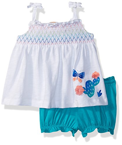 Gymboree Girls' Toddler 1-Piece Tie Strap Bodysuit, White, 18-24 mo