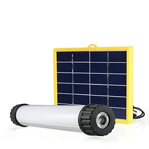 MGWA USB Luz Solar LED Al Aire Libre Impermeable Al Aire Libre Acampar Leer Trabajo Noche Montar Montañismo Viajar Reparación Hogar Barra de Luces Multifunción Luz de Emergencia de Alto Brillo