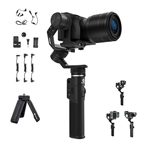 Feiyu G6 Max 3 axis Handheld Gimbal stabilizer for Mirrorless Camera Sony a6400 Series, RX100 Series, GoPro 8 7 6 5 Action Camera & iPhone 11  XS 8 7 Huaiwei Samsug Smart Phone