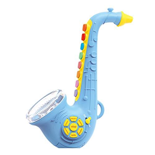 MAJOZ0 Saxophon für Kinder ,Kinder Saxophon Spielzeug ,Musikinstrument Spielzeug Saxophon mit 7 farbigen Tasten