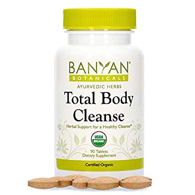 Banyan Botanicals Total Body Cleanse – Organic Detox Supplement with Amla & Manjistha – Supports Ayurvedic Cleanses, Detoxification, & Liver Function* – 90 Tablets – Non GMO Sustainably Sourced Vegan by Banyan Botanicals