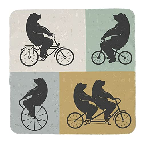 Baby Swaddle Blanket Soft Receiving Blanket Nursery Multipurpose Throw Blankets Gift for Newborn Infant Funny Bear Bicycle Grunge Rock Art Painting Play mat