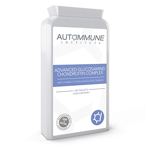 Advanced Glucosamine Chondroitin Complex Supplement with Added Vitamin C. 180 Tablets. Made in The UK. 3 Month Supply