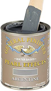 General Finishes PEAP Pearl Effects House Paint, 1 Pint, Argentine Pearl