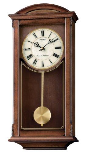 relojes de pared en madera con pendulo fabricante Seiko