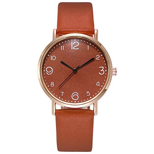 xy 2021 Reloj de Lujo de la Marca Mujeres Casual Cuarzo Banda de Cuero NewV Strap Reloj de muñeca Analógica Reloj Reloj Reloj Relógios de Mulher 03 * (Color : Ivory)
