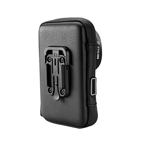 Fahrrad Fahrrad Motorrad Handyhalter für Motorständer wasserdichte Koffer Tasche Abdeckung Lenkerhalterung für Telefon (Schwarz 6 Zoll)