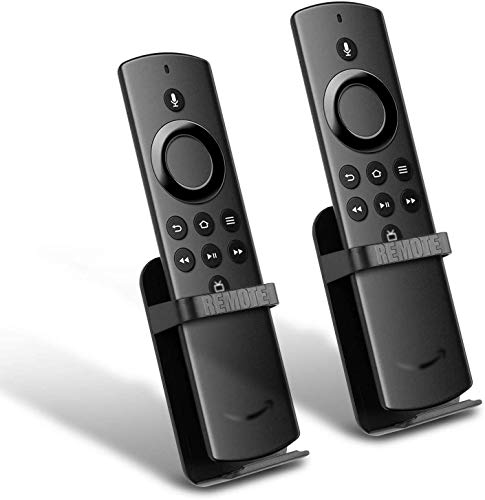 Fir TV Remote Holder Compatible with TV Stick Lite 2020 Release Control, TV Stick 4K / 1st and 2nd Gen TV Stick, TV Cube, Alexa Dot Voice Remote 2-Pack