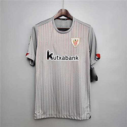 MFFZHJ Uniforme de fútbol para Hombres, para el Jersey de fútbol de Bilbao Vasco, 2021 en el hogar de un Traje de fútbol Adaptable, Jersey de Verano para Adultos y niños Grey-XXL