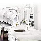 BUZIFU Vinilos para Muebles de Cocina, Vinilo Mármol Adhesivo Pintado Impermeable, Vinilo Adhesivo para Encimera de Cocina, Papel Adhesivo para Aparador/Armario/Mesa/Frigorífico/Pared, 60 x 200cm