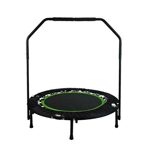 ANCHEER Fitness-Trampolin, Indoor/Outdoor, leise Gummiseilfederung, Höhenverstellbarer Haltegriff, Trampolin für Jumping Fitness, Nutzergewicht bis 100kg/135kg, Ø 40inch (40Zoll-Grün)