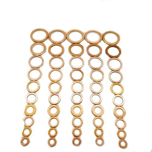 20 piezas de cobre, anillo plano, tapón de sumidero, accesorios de sello de aceite, arandelas, junta de hardware