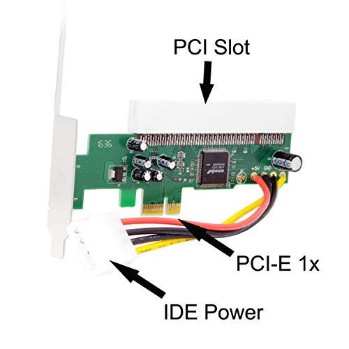 Cablecc PCI-Express PCIE PCI-E X1 X4 X8 X16 a PCI Bus Riser Card Adaptador Conversor con Soporte para Windows