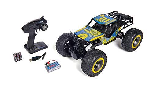 Carson 500404127 Giant Crawlee 1:10 – RC-Crawler für Offroad und Wasser, 4x4, bis zu 20 km/h schnell, 100% RTR, ferngesteuert, wasserdicht, Monsterreifen