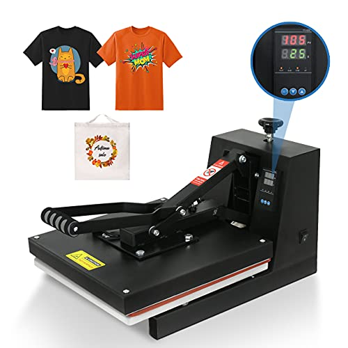 """Super Deal PRO 15"""" X 15"""" Digital Heat Press Machine Industrial Quality Clamshell Sublimation Transfer Machine with Two Teflon Sheets for T-Shirt, 110V"""
