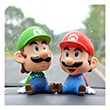 ZXWDIAAE Vinyl Bobble-Head Super Mario Orolio Mario Brüder Kopf schütteln Bobblehead Puppe Auto...