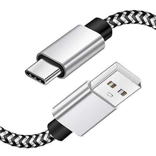 YOREPEK USB C Kabel [2 Pack 2M 3M] Schnellladekabel USB C Ladekabel Nylon Typ C Ladekabel Kompatibel für Samsung Galaxy S10 S9 S8 Plus Note 10 9 8, Xiaomi, Google Pixel, HTC, LG