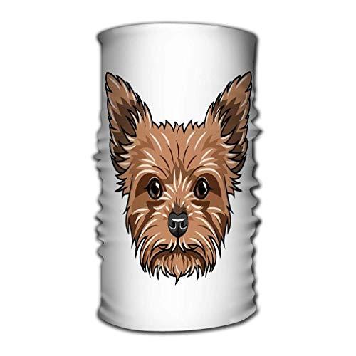 ASDAH Bequemes Gesicht Bandana Covere Atmungsaktiver Headwrap Yorkshire Terrier Hundeporträt Hundegesicht Kopf Maulkorb Yorkshire Terrier Rasse Yorkshire Terrier Hundeporträt Hundegesicht Kopf