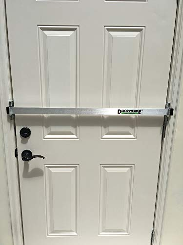Doorricade Door Bar - Best Protection Against Home Invasion - Solid Aluminum Bar.