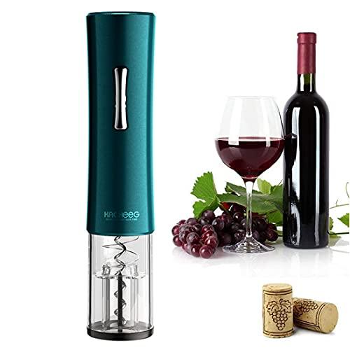 XHJL Abridor de Vino eléctrico abridor de sacacorchos Recargable automático con Cortador de Papel de Aluminio y Cable USB, Regalo Ideal para Amantes del Vino, Verde Oscuro