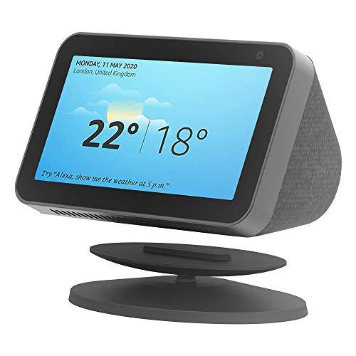 Soporte magnético ajustable para Echo Show 8 y Echo Show 5, rotación de 360 grados, soporte de mesa para altavoces Amazon Alexa, antideslizante (negro)