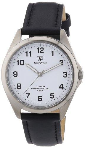 TP Time Piece TPGT-50217-12L - Orologio da polso uomo, pelle, colore: nero