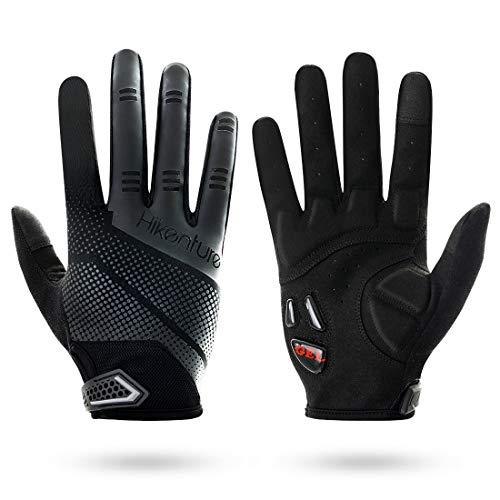 Hikenture Fahrradhandschuhe- Gel Atmungsaktive MTB Handschuhe - Vollfinger Radhandschuhe Herren&Damen für Motocross Downhill Motorrad -...