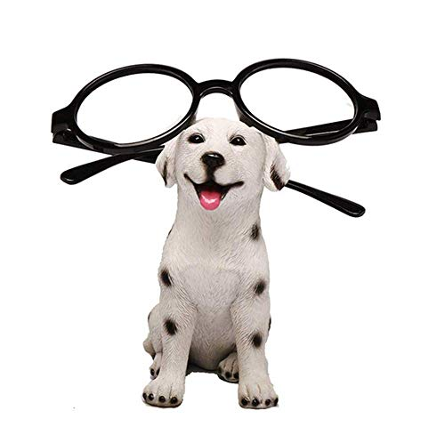 zoele Cute Cat Animals Resin Puppy Dog Eyeglasses Sunglasses Holder Spectacle Display Stand Home Decoration Best Gift for Kids Friends (C)