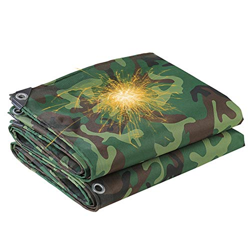 ALGFree-Parasole Vela Garden Camo Tarp, Outdoor Truck Lorry Rainproof Tarpaulin Cover with Eyelets Waterproof Rain Shelter, Dustproof Sunshade, 500g/m² (Color : Green, Size : 2x3m)