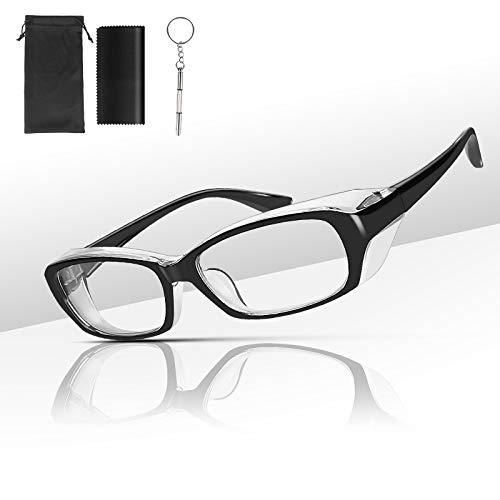Anti Fog Safety Goggles Glasses for Men Women Blue Light Eyeglasses Blocking Eye Protection with Side Shields Pollen Onion Protective Eyewear Shield Set
