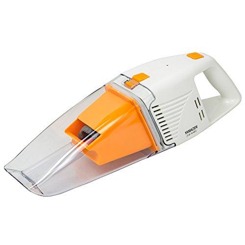[山善] ハンディクリーナー 充電式 ウェット&ドライ 乾湿両用 オレンジ ZHB-W480(D) [メーカー保証1年]