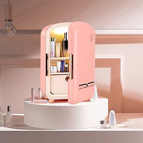 TELAM Mini refrigerador de 12 litros, Verde refrigerador portátil para el Cuidado de la Piel para Almacenamiento de Maquillaje, refrigerador de Belleza portátil, refrigerador termoeléctrico(Pink)