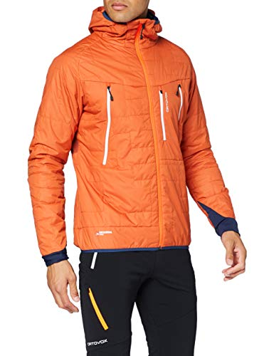 ORTOVOX Mens Swisswool Piz Boè Jacke, Desert Orange, XL