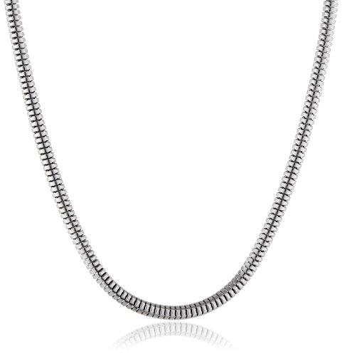 Engelsrufer Damen-Schlangenkette Torokette Stärke 2,4mm 925 Silber rhodiniert 70 cm - ERNT-70-24S