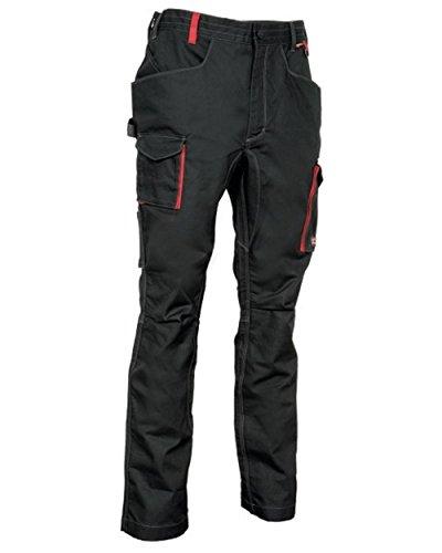 COFRA Arbeitshose Slim Work Reihe MOMBACH in Mehreren Farben (46, schwarz-rot)