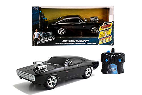 Simba Dickie 253203019 Fast&Furious RC 1970 Dodge Charger ferngesteuertes Auto, schwarz
