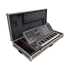 Analog 49-key keyboard synthesizer 64 step sequencer and Arpeggiator 16x16 Matrix modulation panel 256 Preset memory locations Includes flight case