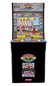 Sambro ACD-002-EU - Spielautomat Arcade 1 Up mit klassischen Videospielen Street Fighter 2, Street Fighter Champion, Street Fighter Turbo, für zu Hause, ca. 50 x 58 x 128 cm