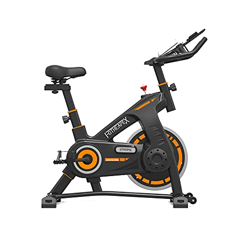 FOTHEAPEX Exercise Bikes Indoor Cycling Bike Stationary Bike, Belt Drive, LCD Display for Home Cardio Workout Bike Training, Comfortable Seat