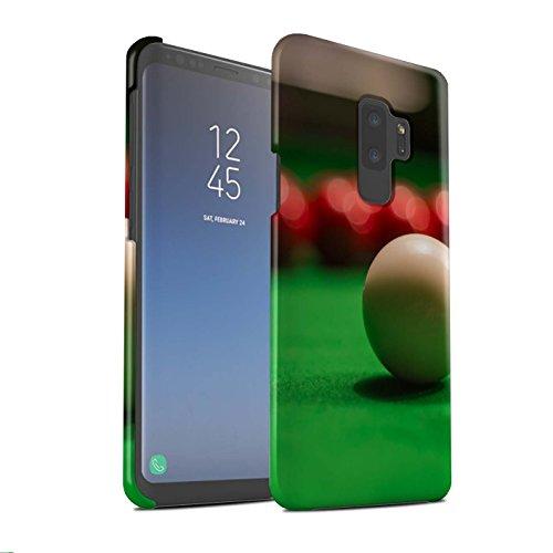 Stuff4® Matte Snap-On Hülle/Case für Samsung Galaxy S9 Plus/G965 / Weiße Kugel Muster/Snooker Kollektion