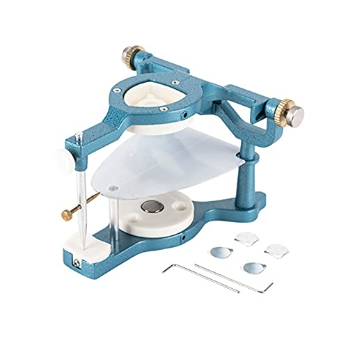 WILLQ Articulador Magnético Dental Equipo de Laboratorio Dental Articulador Dentadura Postiza Ajustable Instrumento Laboratorio Dental Gran Tamaño Fabricación Entaduras Postizas