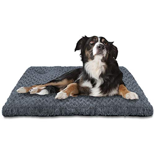INVENHO Dog Bed Kennel Crate pad Comfortable Soft Anti Slip Washable for Large Medium Small Dogs Blue 29'' x 21'' Beds