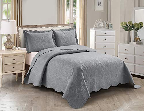 Home Collection 3pc King/Cal King Over Size Elegant Embossed Bedspread