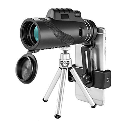 BESPORTBLE Monokular Teleskop 40X60 Handy Kamera Objektiv Zielfernrohr Nachtsicht mit Smartphone Adapter Stativ für Die Vogelbeobachtung Jagd Camping