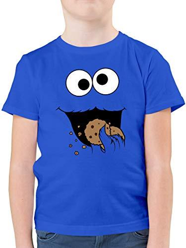 Karneval & Fasching Kinder - Keks-Monster - 116 (5/6 Jahre) - Royalblau - Geschenk Jungen 14 Jahre - F130K - Kinder Tshirts und T-Shirt für Jungen