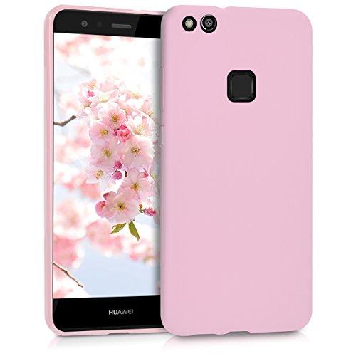 kwmobile Cover compatibile con Huawei P10 Lite - Custodia in silicone TPU - Backcover protezione posteriore- rosa antico matt