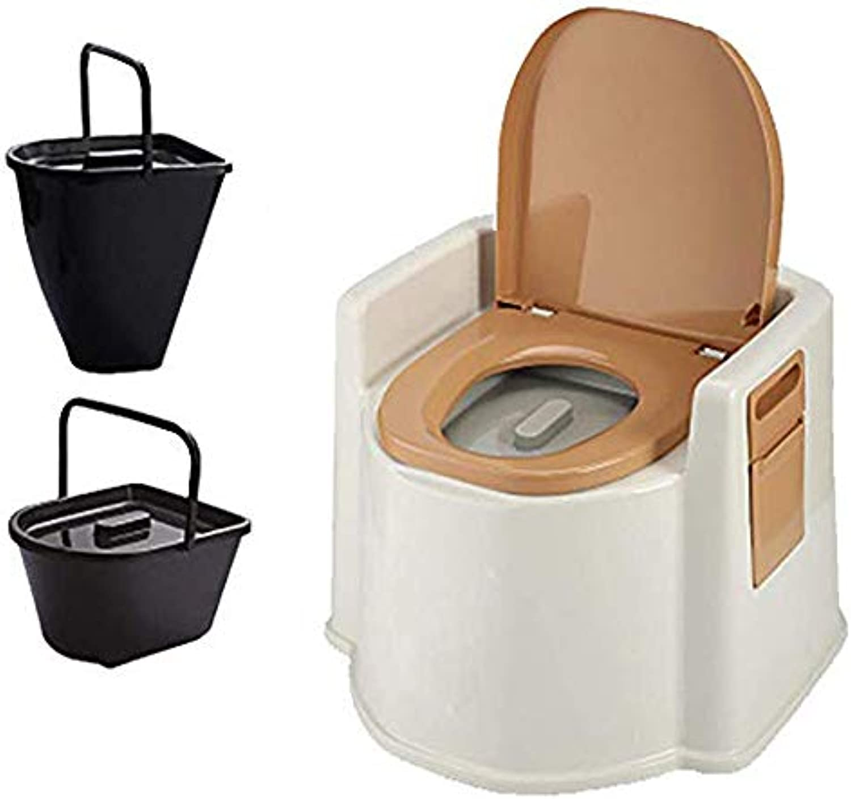 GLJY Kompakte tragbare Toilette Tpfchen Loo mit waschbarem Korb Toilettenpapierhalter für Pool Party Camping Caravan Picknick Angeln Festivals Stiefele Reisen Wandern
